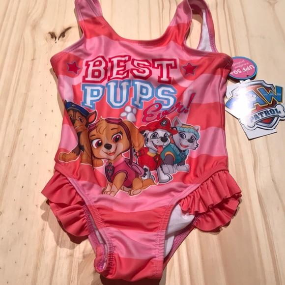 4f30183749758 Paw patrol little girls bathing suit